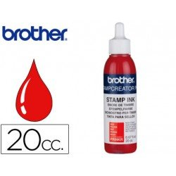 Tinta Brother Rojo para sellos 20 cc