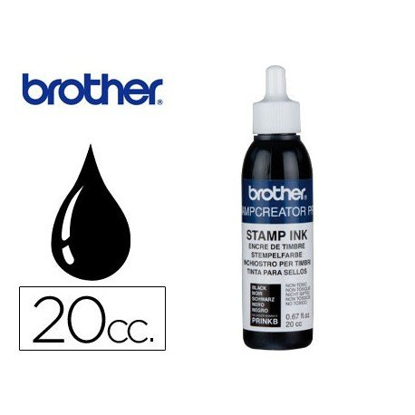 Tinta Brother Negro para sellos 20 cc