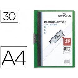 Carpeta dossier pinza central Durable Din A4 verde Capacidad 30 hojas