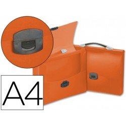 Cartera portadocumentos Beautone Broche naranja