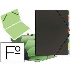 Carpeta clasificadora carton compacto Pardo 9 departamentos