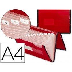 Carpeta clasificadora polipropileno Liderpapel Din A4 rojo