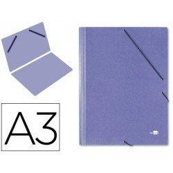 Carpetas de gomas carton Liderpapel Din A3 azul