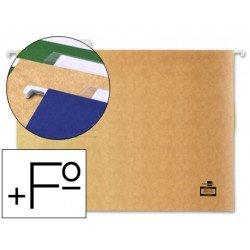 Carpetas colgantes Liderpapel folio prolongado visor superior