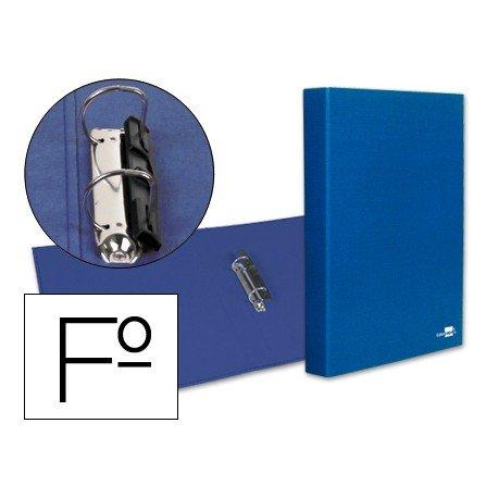 Carpeta 2anillas 25mm Folio Liderpapel Azul