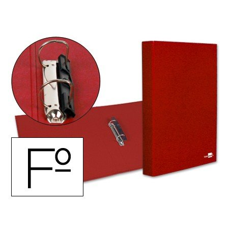 Carpeta 2anillas 25mm Folio Liderpapel Rojo