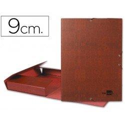 Carpeta de proyectos Liderpapel de carton con gomas cuero 9 cm