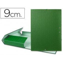 Carpeta de proyectos Liderpapel de carton con gomas Paper Coat verde