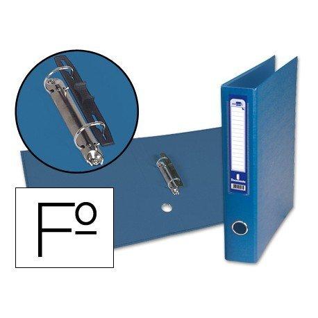 Carpeta anillas carton forrado Liderpapel Paper Coat Documenta lomo 60 mm azul