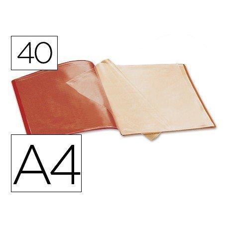 Carpeta escaparate 40 fundas Beautone rojo