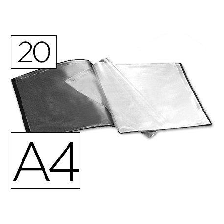 Carpeta escaparate con 20 fundas color negro