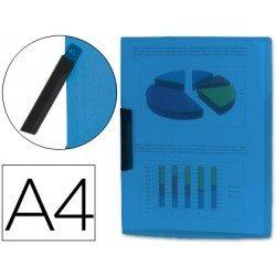 Carpeta dossier con pinza giratoria lateral Liderpapel Din A4 azul