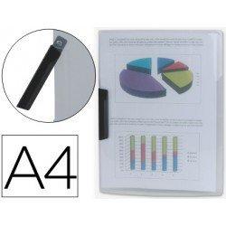 Carpeta dossier con pinza giratoria lateral Liderpapel Din A4 incoloro