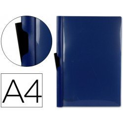 Carpeta dossier con pinza lateral Liderpapel 30 hojas Din A4 azul