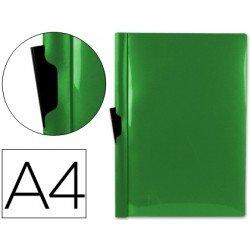 Carpeta dossier con pinza lateral Liderpapel 30 hojas Din A4 verde