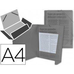 Carpeta lomo flexible con solapas Liderpapel Din A4 negro translucido