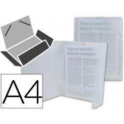 Carpeta lomo flexible con solapas Liderpapel Din A4 transparente