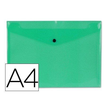 Carpeta sobre Liderpapel con cierre de broche verde