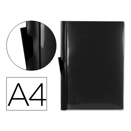 Carpeta dossier con pinza lateral Liderpapel 30 hojas Din A4 negro