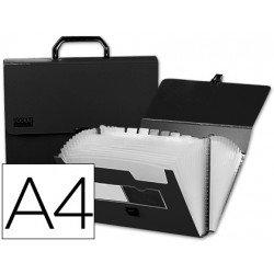 Carpeta clasificadora polipropileno con asa Beautone Din A4 Negro