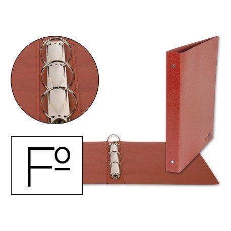 Carpeta Liderpapel carton cuero folio lomo 55mm