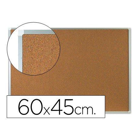 Tablero de corcho mural con marco de aluminio Q-Connect 60x 45
