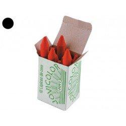 Lapices cera Jovi caja de 12 unidades color negro