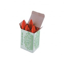 Lapices cera Jovi caja de 12 unidades color rojo