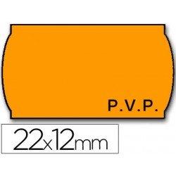 Rollo Etiquetas adhesivas Meto naranja