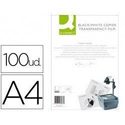 Transparencias Din A4 Q-Connect, válido para impresora láser