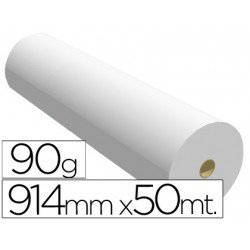 Papel reprografia Plotter 90 g/m2, 914 mm x 50 m.