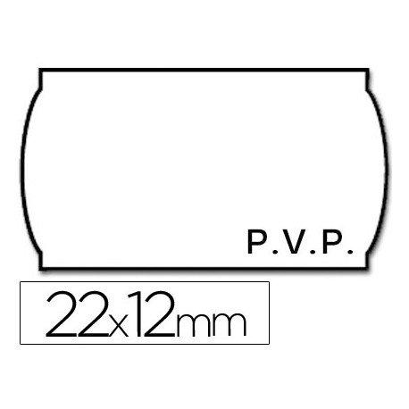 Rollo Etiquetas adhesivas Meto PVP 22 x 12