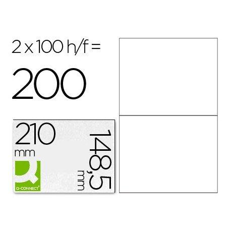 Etiquetas Adhesivas Q-Connect 210 x 148,5 mm