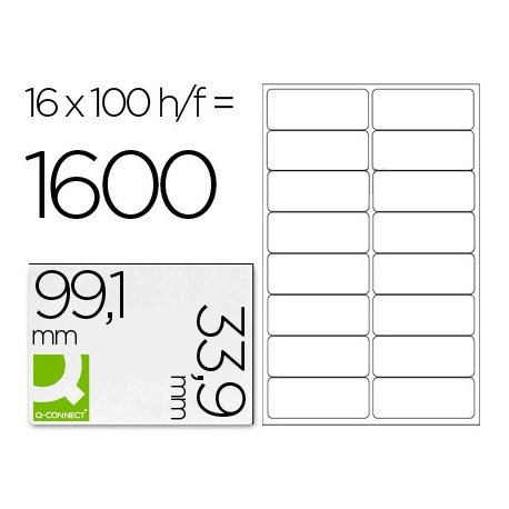 Etiquetas Adhesivas Q-Connect 99,1 x 33,9 mm