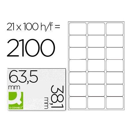 Etiquetas Adhesivas Q-Connect 63,5 x 38,1 mm