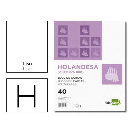 Bloc cartas Liderpapel holandesa 210X275mm liso