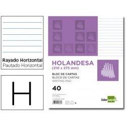 Bloc cartas Liderpapel holandesa 210x275mm Rayado