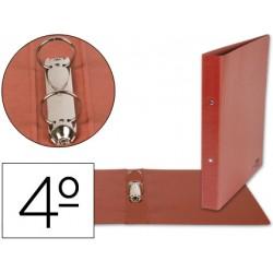 Carpeta Liderpapel 2 anillas 40 mm carton cuero cuarto