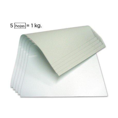 Cartoncillo blanco 350 g/m2 una cara 640 x 880 mm