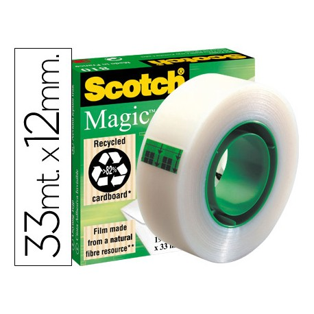 Cinta adhesiva scotch-magic 33 mt x 12 mm