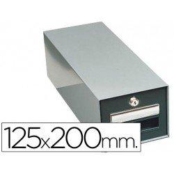 Fichero Liderpapel metálico fichas 125 x 200 mm