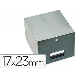 Fichero Liderpapel metálico fichas 17 x 23 mm