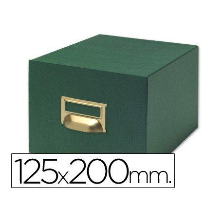 Fichero Liderpapel tela verde fichas N4