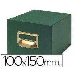 Fichero Liderpapel tela verde fichas N3