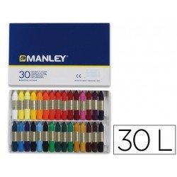 Lapices cera Manley 30 colores
