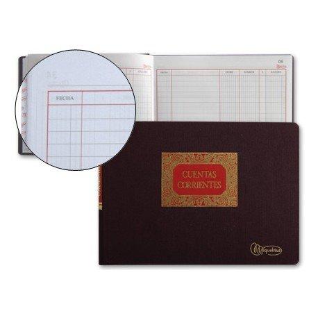 Miquelrius Libro Cuentas Corrientes tamaño Cuarto Apaisado (medio folio)