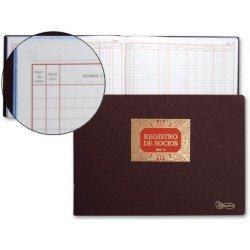 Miquelrius Libro Registro de socios tamaño folio apaisado