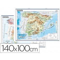 Mapa mural España físico - político
