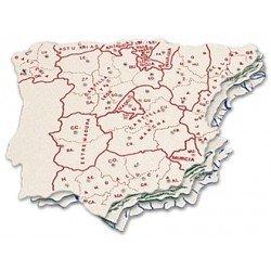 Plantilla mapa España 15 x 12,5 cm