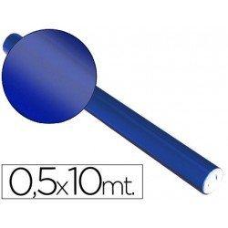 Papel metalizado Sadipal azul 65g/m2 50x10 cm